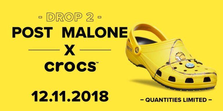 Post Malone wypuścił drugą linię customizowanych Crocsów