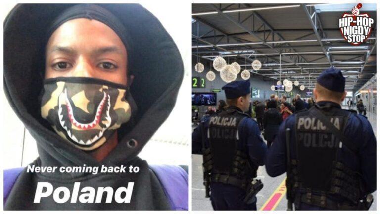 Czarnoskóry raper zatrzymany na lotnisku w Polsce!